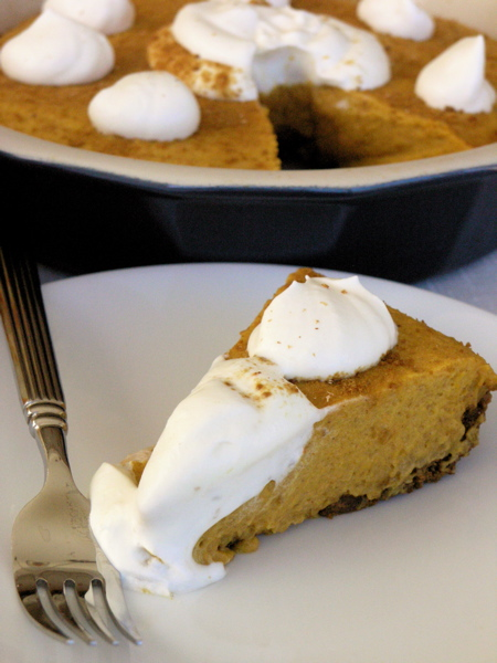 Pumpkin Rum Mousse Pie - Gingersnap Crust | StreamingGourmet - The ...