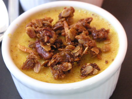 Spice Pumpkin Custard w/ Orange Infused Granola