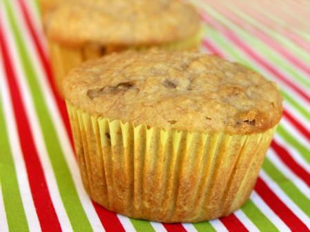Banana Pecan Oat Bran Muffins
