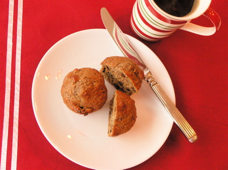 Spiced Fig & Pecan Oat Bran Muffins