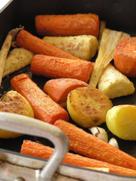 Jamie Oliver's Roasted Root Vegetables