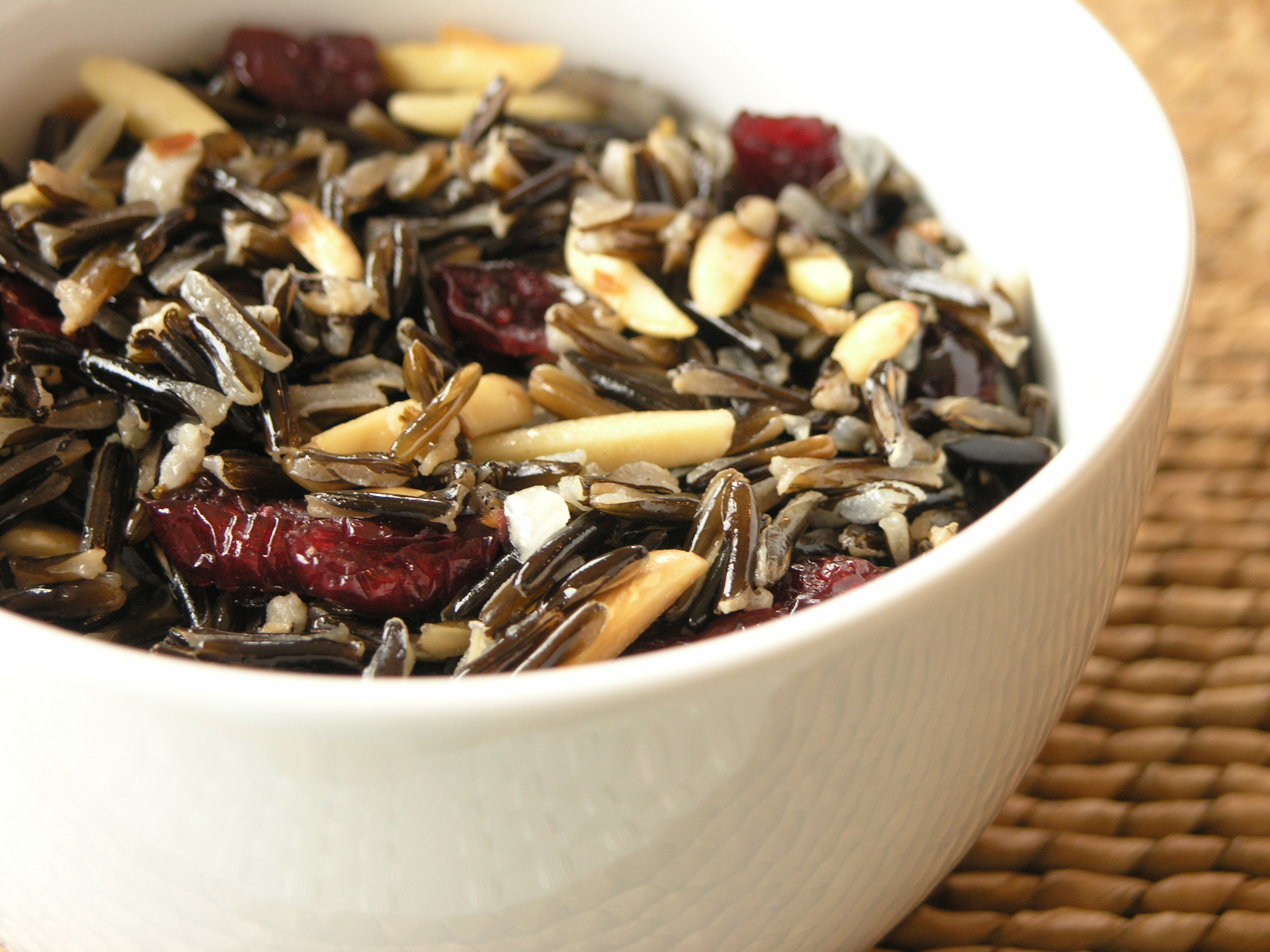 Wild Rice, Cranberry and Almond Salad with a hint of Orange ...
