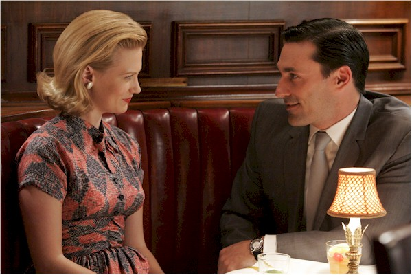 Betty and Don Draper at Dinner