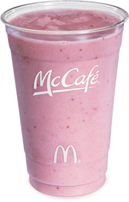 mcdonalds Strawberry Banana Smoothie 12 fl oz cup 255x400 How Many Calories In A Vanilla Iced Coffee From Mcdonalds
