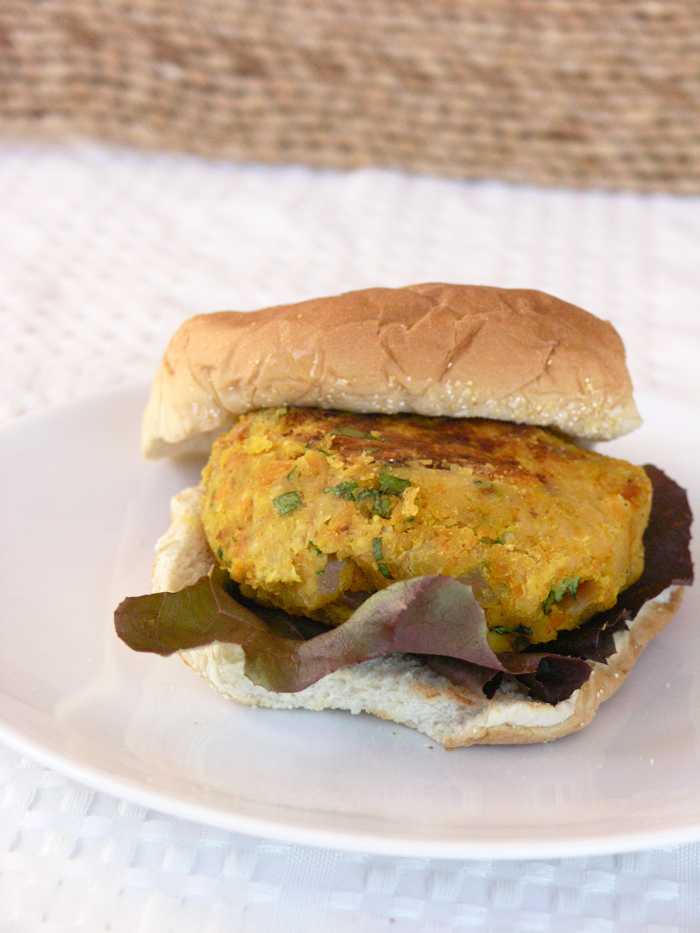 Spicy Red Lentil Burger