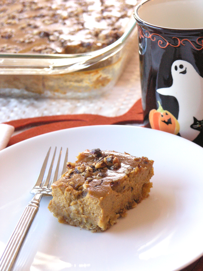 Hazelnut Pumpkin Bars